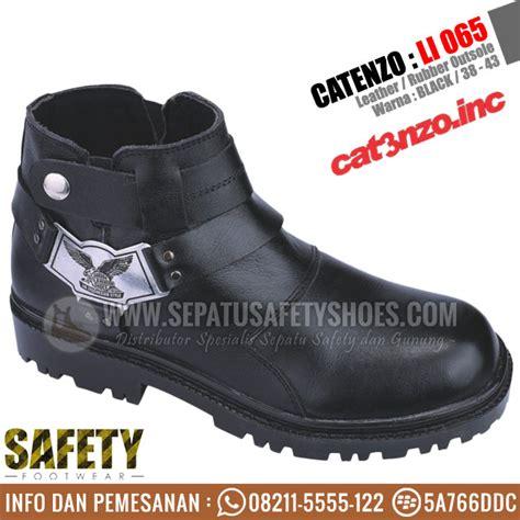 Sepatu Glossy Li sepatu safety catenzo li 065 model touring dan bikers