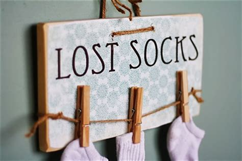 diy lost socks sign the culinary quot lost socks quot craft giveaway