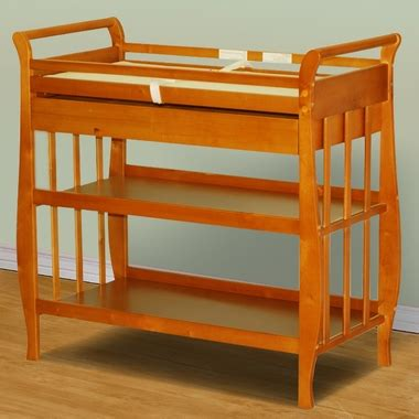 Afg Athena Nadia Sleigh Changing Table In Pecan Free Shipping Pecan Changing Table
