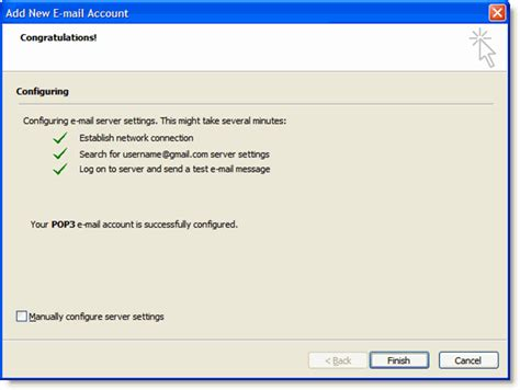 configure xp e mail e mail configuration for outlook 2007