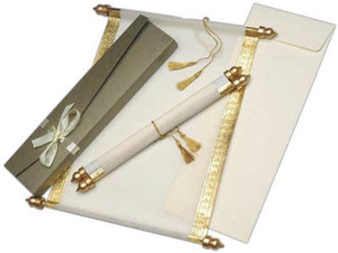 Einladungskarten Hochzeit Rolle by Orientalische Einladungskarten Und Edle Schriftrollen Zur