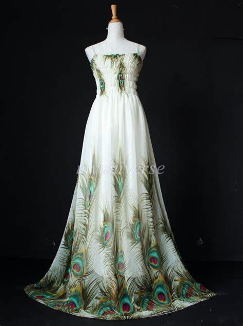 Upholstery Fabric Beach Theme Plus Size Clothing Maxi Dress Peacock Dress Women Prom Long