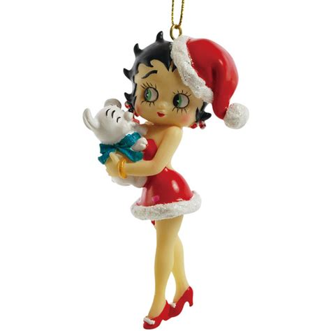 betty boop betty and pudgy hanging christmas ornament
