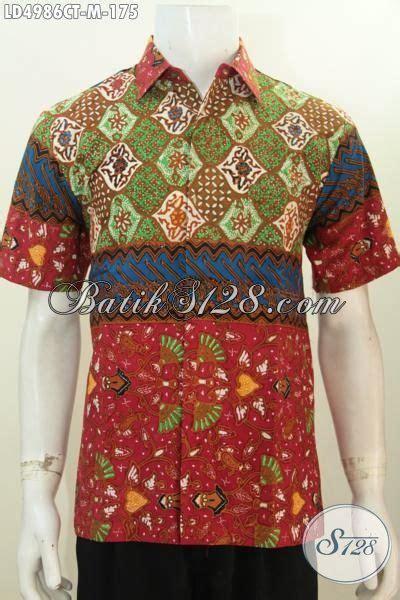 Kemeja Batik Pria Lengan Panjang Hem Batik 209 kemeja batik ukuran m dengan kombinasi motif modern yang