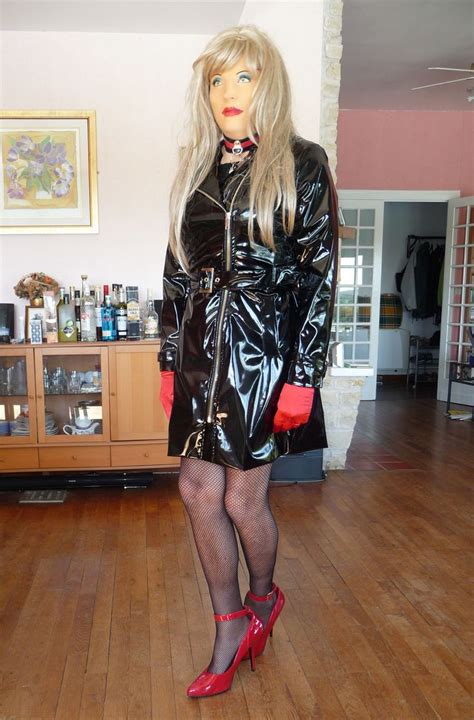 crossdressers vinal rain coats in canada 20 best images about crossdressers wearing their wife s