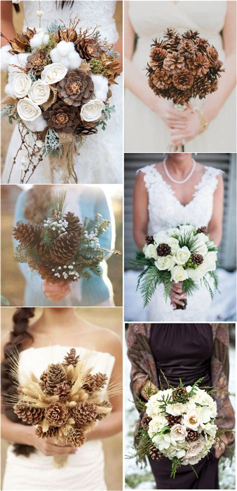 Wedding Bouquet Decorations by 35 Pinecones Wedding Ideas For Your Winter Wedding