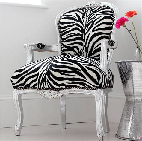 Zebra Print Armchair by Zebra Print Arm Chair