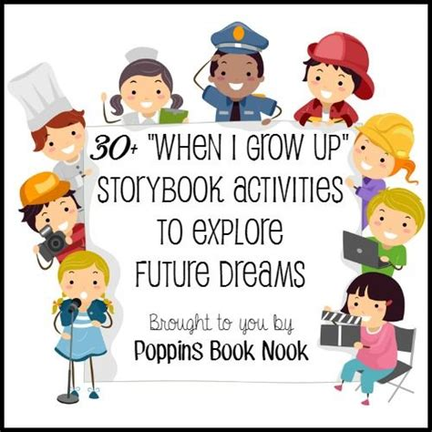 30 when i grow up storybook activities and resources