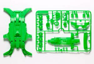 Tamiya 95052 Ma Fluorescent Color Chassis Set Green ma fluorescence color chassis set green mini 4wd