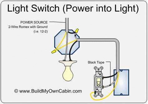 wiring  light switch power  light