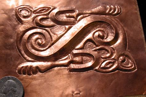copper sheet offcuts for jewellery and repousse folksy copper repousse panel photo mike callihan photos at