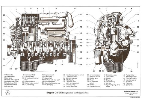 engine cross section engine om 352 longitudinal and cross section original