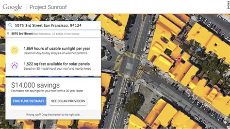 google introducing project sunroof climate state google s project sunroof calculates solar cost