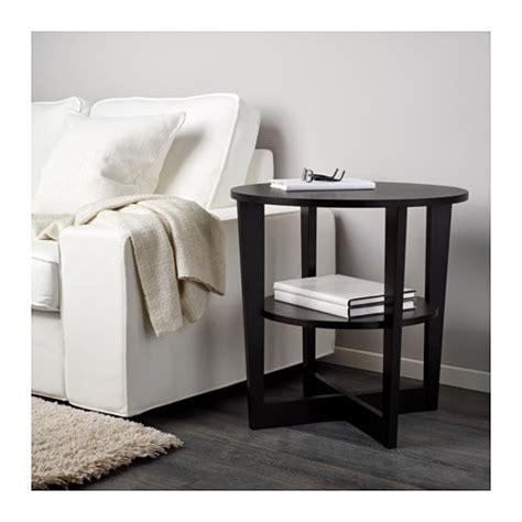 ikea black side table vejmon side table black brown ikea