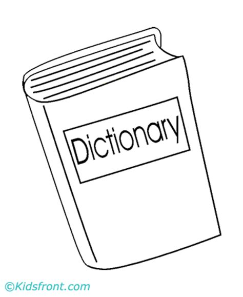 Dictionary Coloring Pages Printable