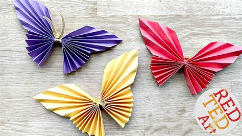 How To Make A Paper Work - easy paper butterfly origami easy butterfly diy