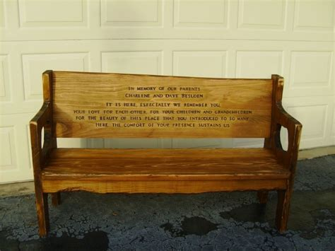 personalized memorial bench custom made memorial bench by jim reedy custom woodworking