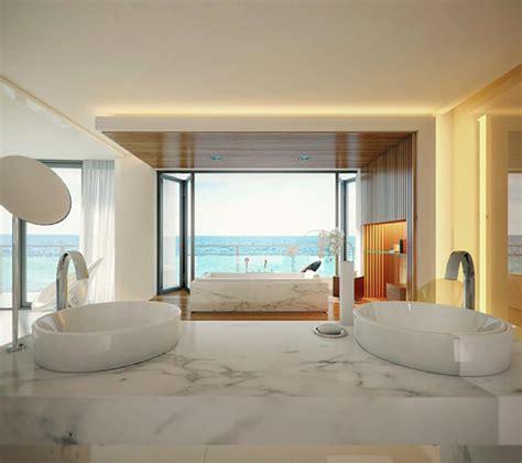 Ocean Themed Bathroom Ideas salle de bain de luxe au design modern et chic design feria