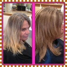 blending greys with med ash blond before and after lowlights for grey coverage and new