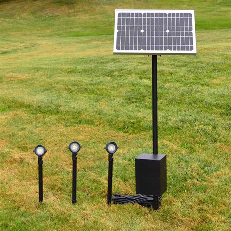 Remote Solar Panel Lighting System By Free Light Flexible Solar Landscape Lights