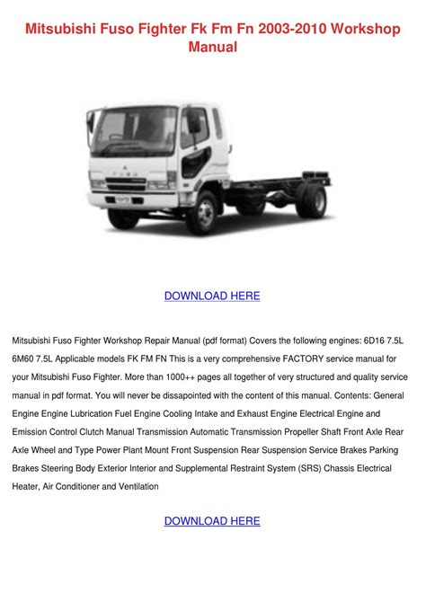 book repair manual 2004 mitsubishi eclipse transmission control mitsubishi fuso fighter fk fm fn 2003 2010 wo by asia hafter issuu