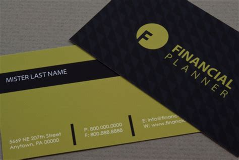 financial business card template financial planner business card template inkd