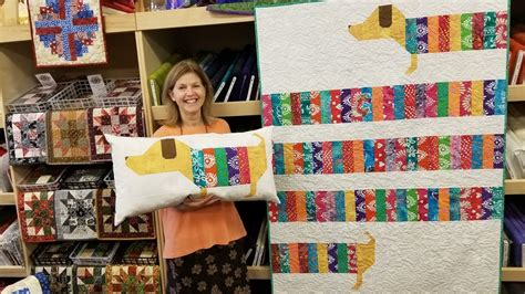 quilt pattern all wrapped up wiener dog quilt all wrapped up pattern youtube