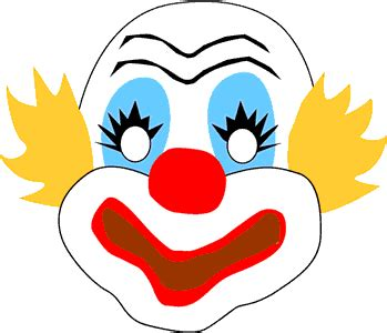 printable clown mask clown face clip art traditional circus clown mask clip