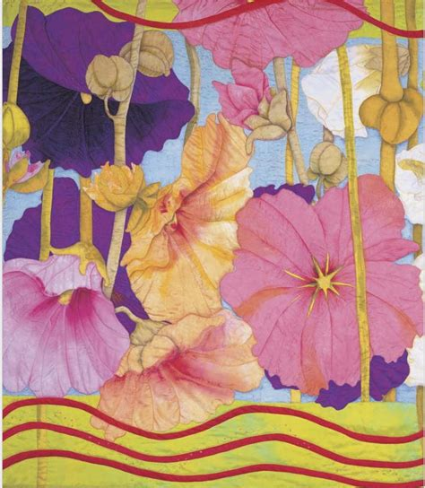 Velda Newman Quilts by The Of The Quilt Hollyhocks Quilt By Velda Newman