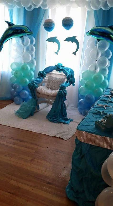 themes of the black boy dolphins baby shower party ideas photo 7 of 16 catch