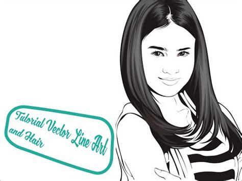line art hair tutorial tutorial vector line art and hair part 1 obiy shinichi