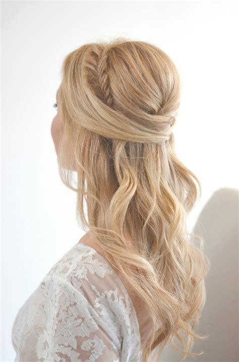 half up half down hairstyles wedding day trubridal wedding blog 55 romantic wedding hairstyle