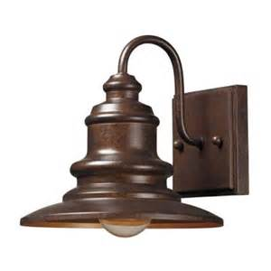 Homedepot Outdoor Lighting Titan Lighting Marina 1 Light Outdoor Hazelnut Bronze Sconce Tn 8395 The Home Depot
