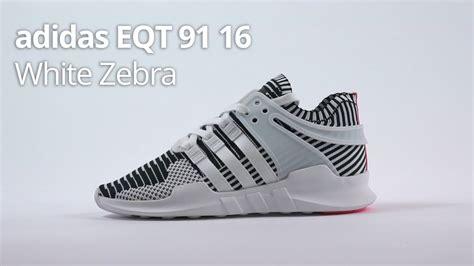 Adidas Eqt Adv 91 16 Solar Zebra adidas eqt adv white zebra 91 16 unboxing review sizing
