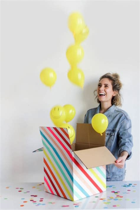 surprise gifts mini party in a box balloontime diy pinterest big