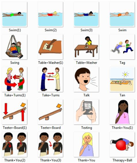 Swing Verb Actions Dictionary For