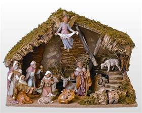 fontanini 11 piece nativity set with italian stable roman