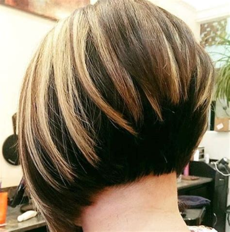 Show Front Back Short Hair Styles | a line graduated bob hairstyles back view