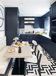 Navy Blue Kitchen by Two Blue Galley Kitchens Cococozy