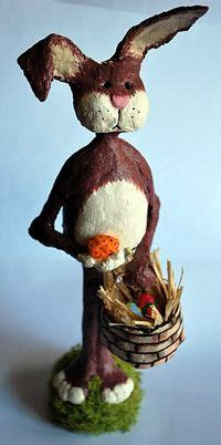 How To Make Paper Mache Rabbit - 25 best ideas about paper mache clay on