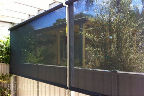 straight drop awnings verandah blinds straight drop awning patio blinds