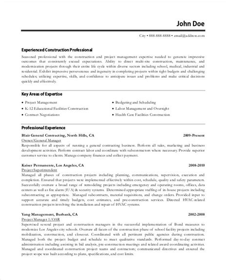 construction manager cv format 54 best resume formats pdf doc free premium templates