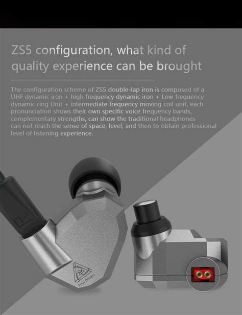 Knowledge Zenith Hifi Tri Band Balanced In Ear Earphones 3 5mm Silver kz zs5 in ear earphone hifi driver with microphone gray