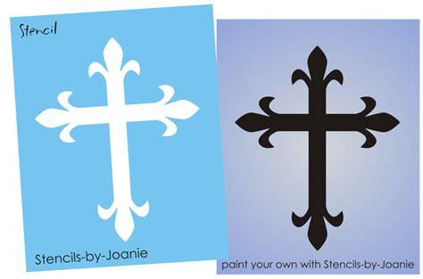 Stencil Fancy Fleur 6 Quot Cross Symbol Christian Crosswalk Paint Template