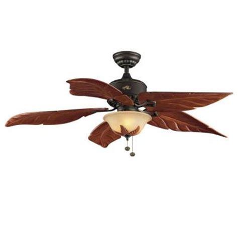 Home Depot Leaf Ceiling Fan by Hton Bay Antigua 56 In Rubbed Bronze Ceiling Fan