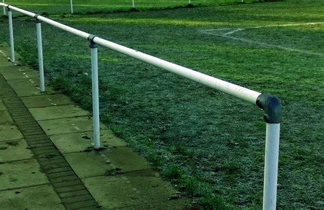 portable fence for cing spectator barrier for use on football and rugby pitches general low cost sports