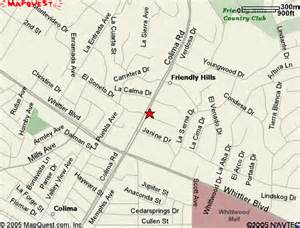 where is whittier california on a map whittier hospital center map to us