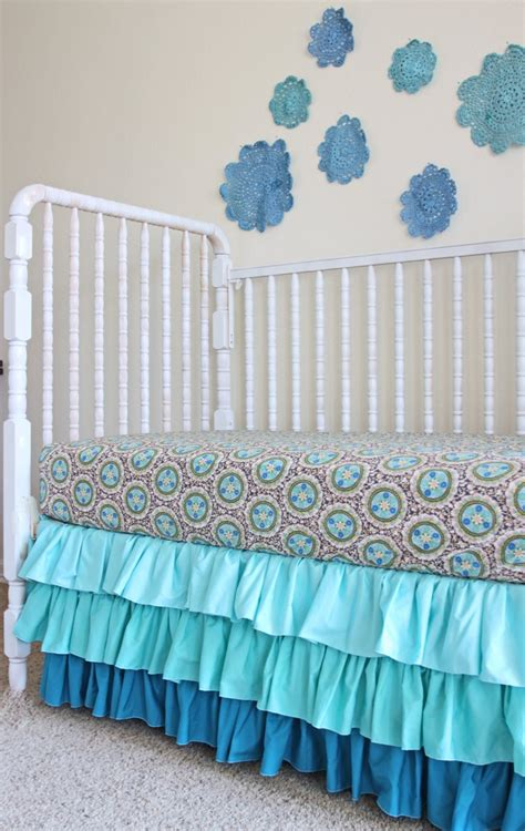 Mini Crib Dust Ruffle Best 25 Ruffled Crib Skirts Ideas On Pinterest Crib Bed Skirt Crib Skirt Tutorial And Crib