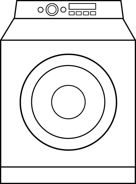 washing machine coloring page picture of washing machine cliparts co