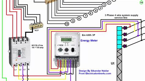 single phase electric meter wiring diagram wiring